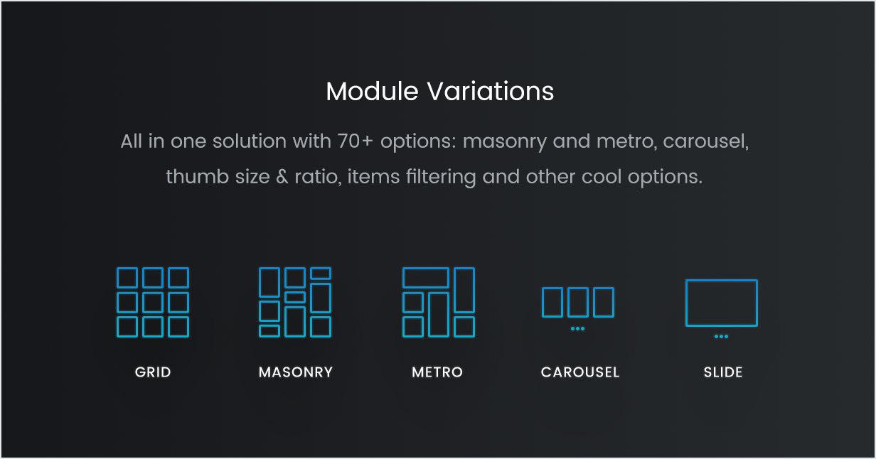 Grid, Masonry, Isotope, Metro