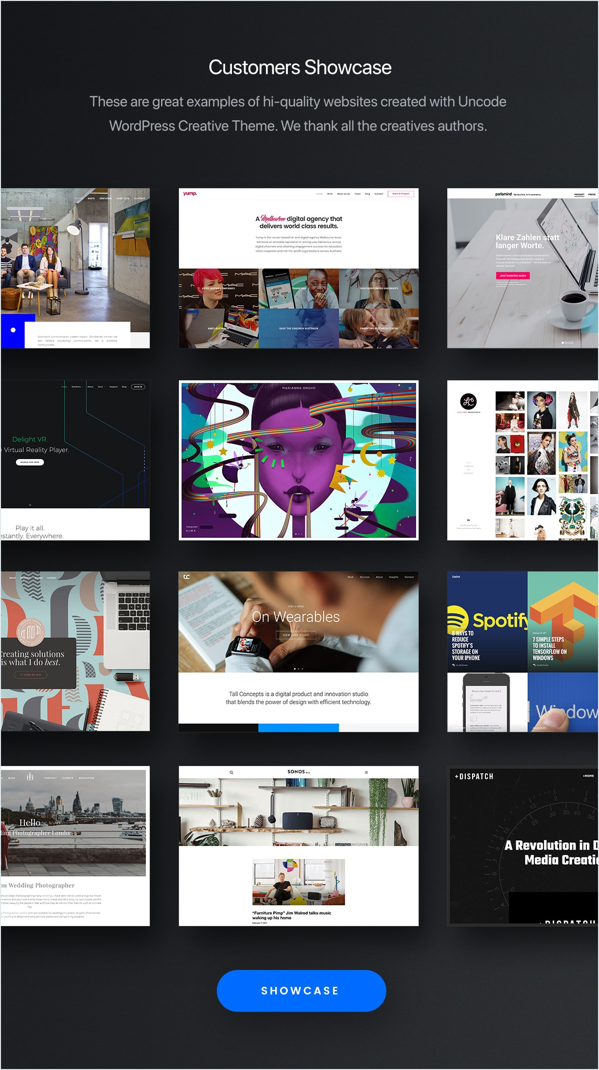 Showcase  - showcase min - Uncode – Creative Multiuse WordPress Theme