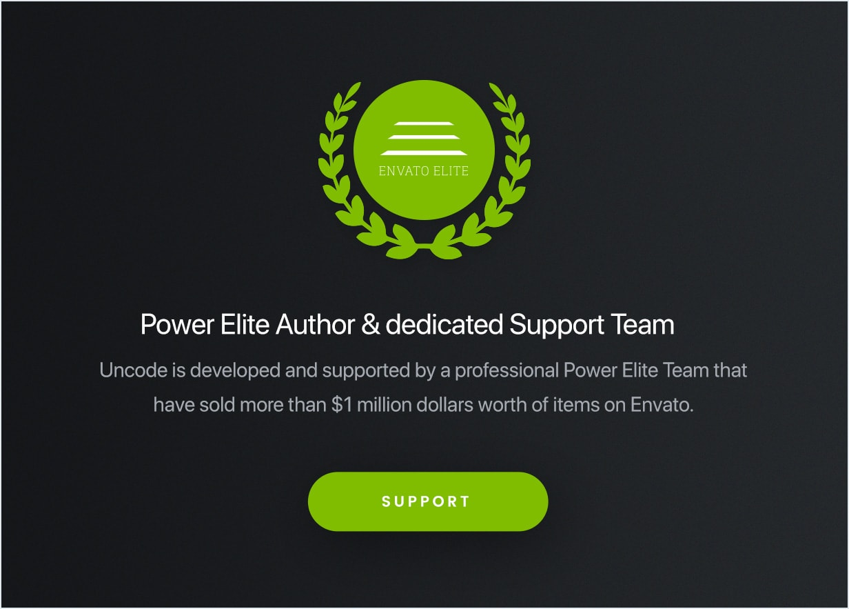 Support  - support min - Uncode – Creative Multiuse WordPress Theme