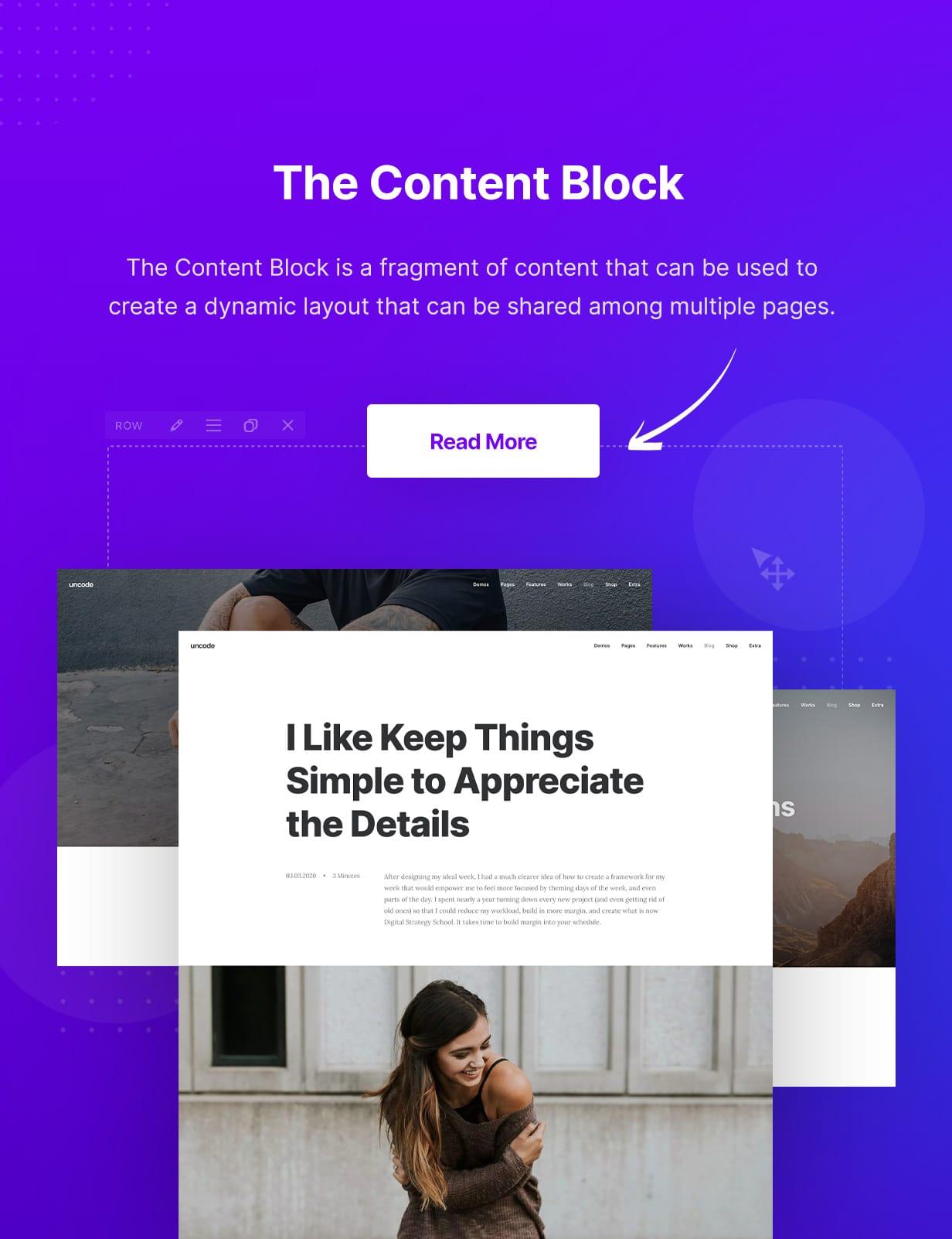 Uncode - Creative Multiuse & WooCommerce WordPress Theme -  Content Block
