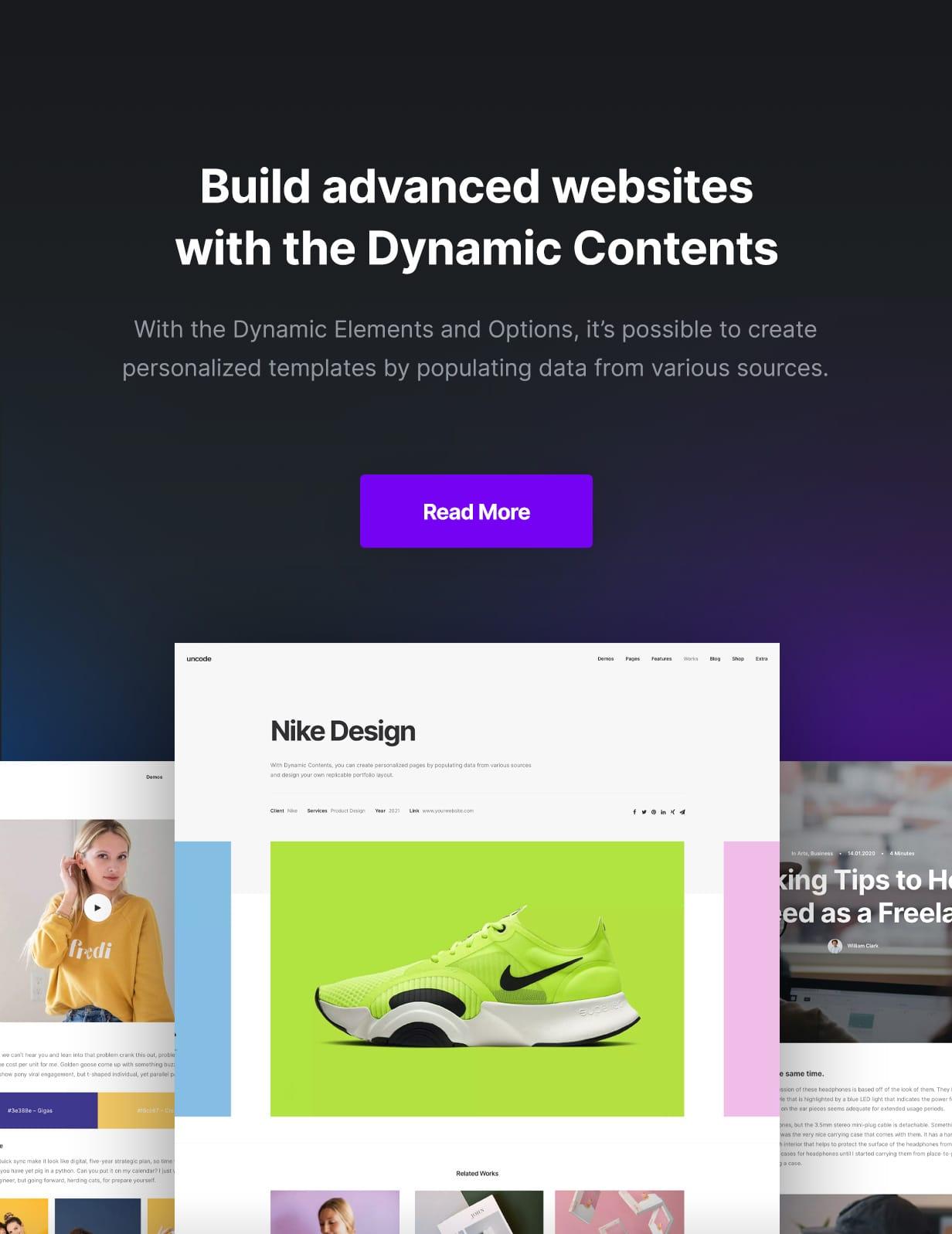 Uncode - Creative Multiuse & WooCommerce WordPress Theme - Dynamic Contents
