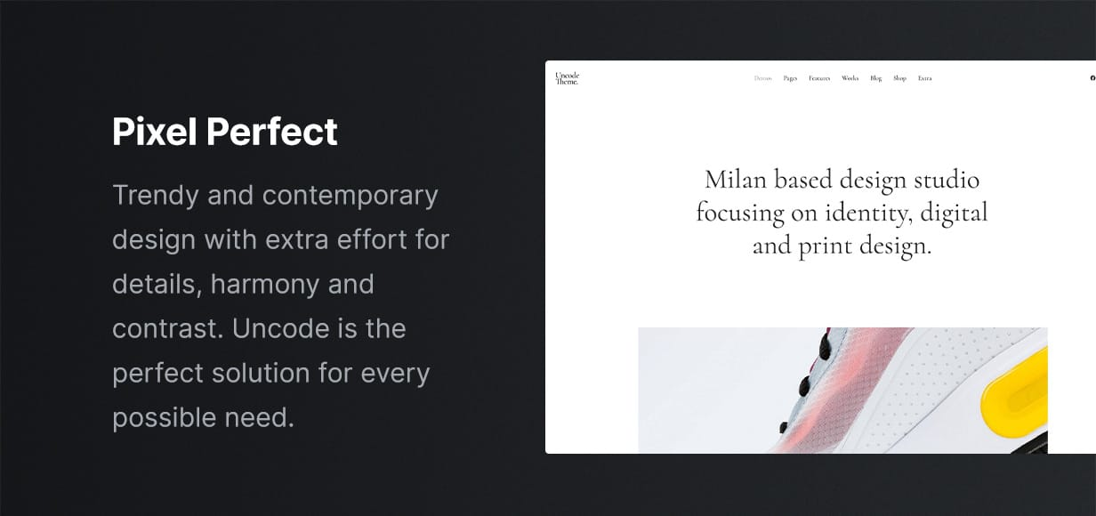 Uncode - Creative Multiuse & WooCommerce WordPress Theme -  Design
