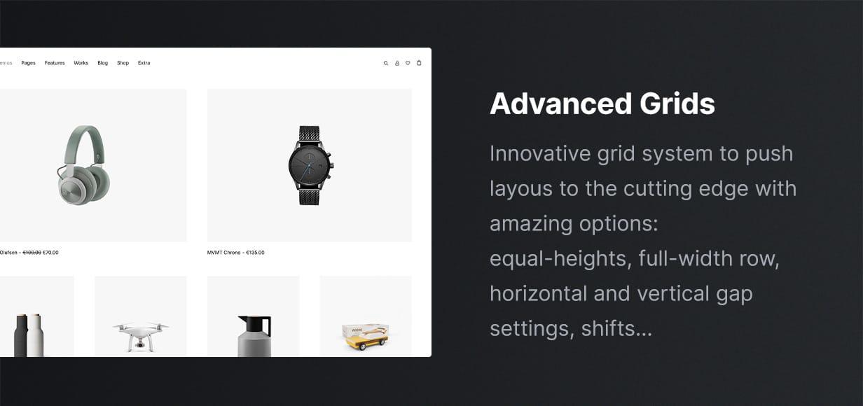 Uncode - Creative Multiuse & WooCommerce WordPress Theme - Grid System
