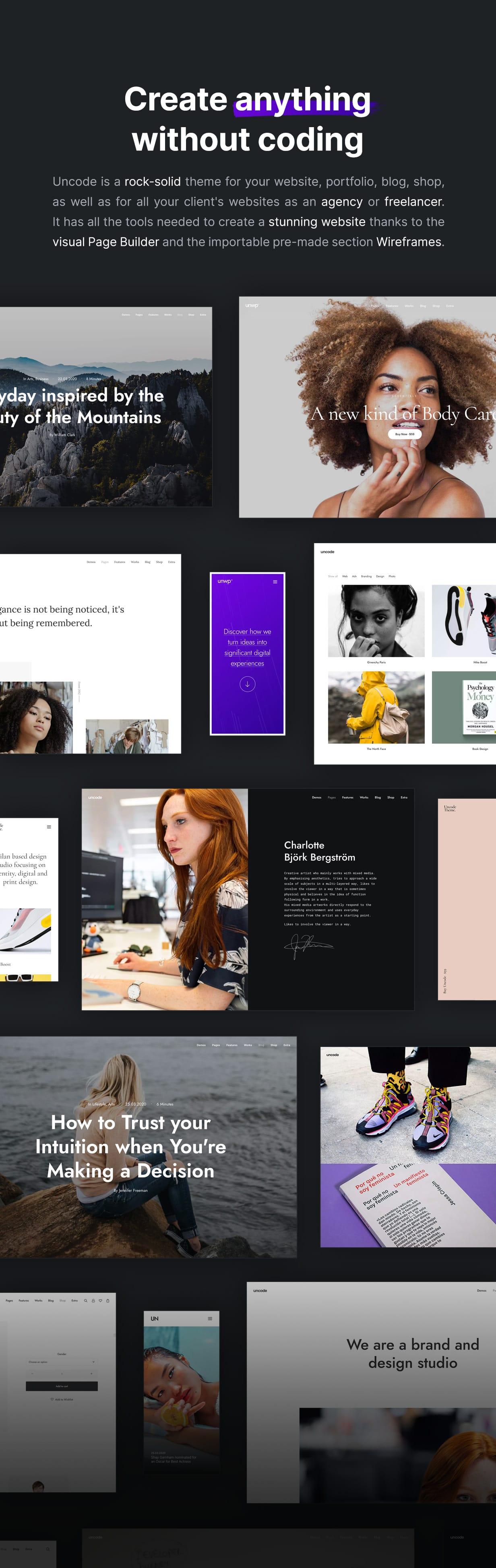 Uncode - Creative Multiuse & WooCommerce WordPress Theme - Website Builder