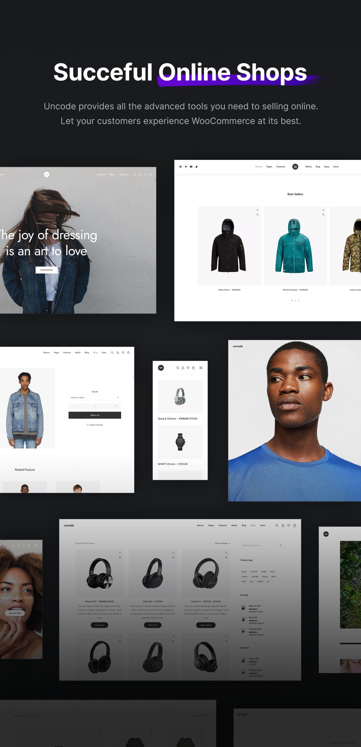 Uncode - Creative Multiuse & WooCommerce WordPress Theme - eCommerce