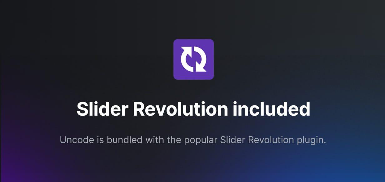 Uncode - Creative Multiuse & WooCommerce WordPress Theme - Slider Revolution