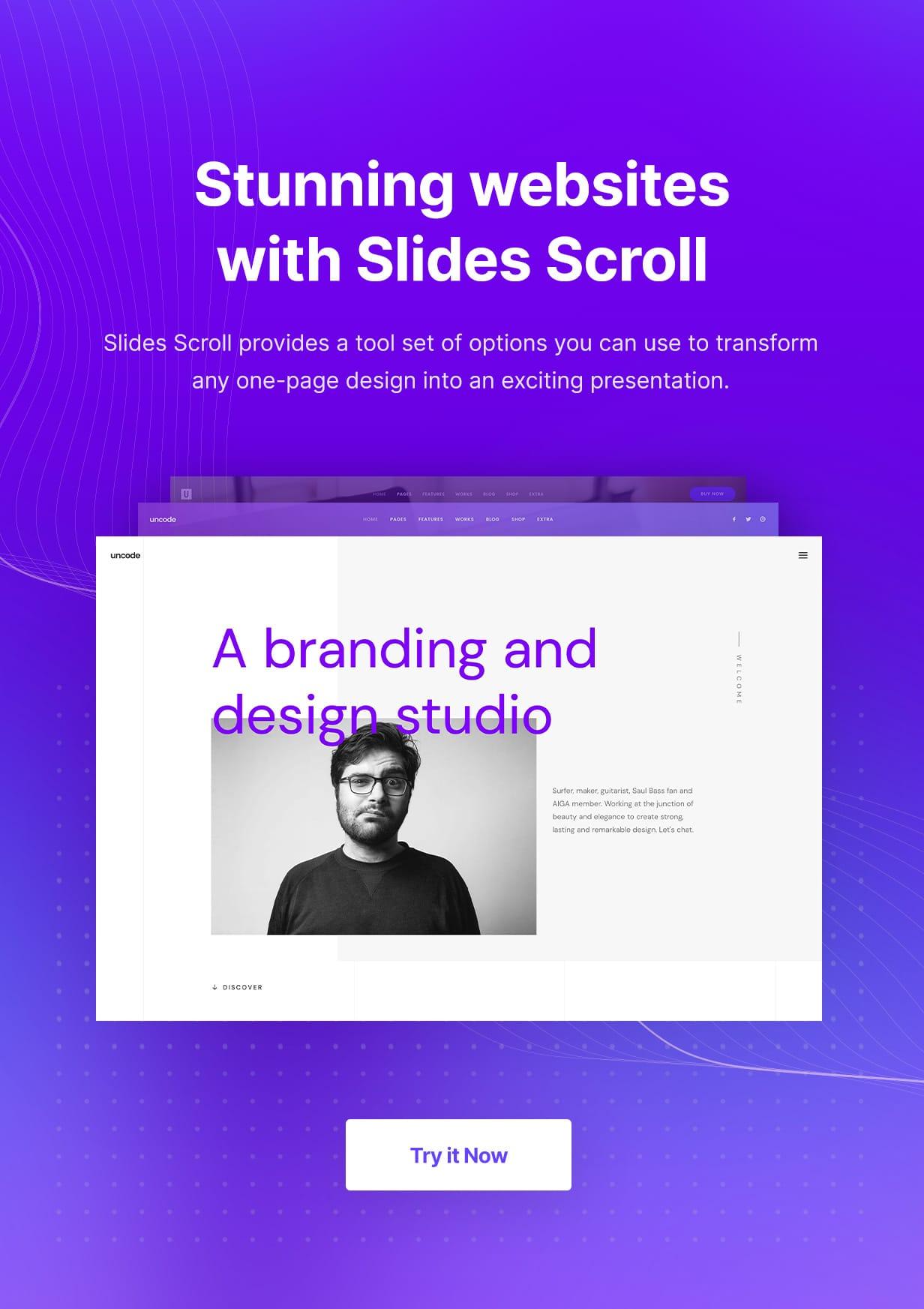 Uncode - Creative Multiuse & WooCommerce WordPress Theme - Slides Scroll