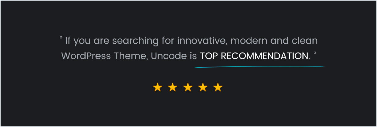 Uncode - Creative Multiuse Theme