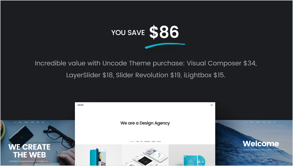 Visual Composer, Slider Revolution, LayerSlider, iLightbox
